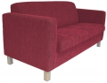 Sienna 2.5 seater Ruby Fabric