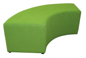 curved ottoman green