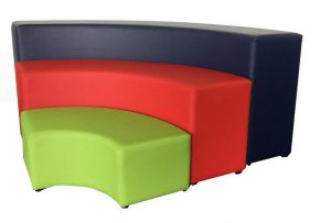 3 tier ottoman curved