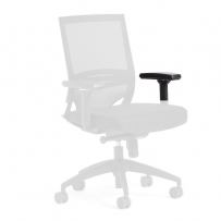 Flow chair arm